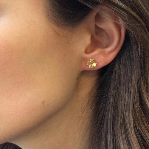 ต่างหูทองใบโคลเวอร์